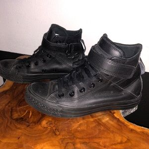 Converse Shoes - All Star Black Leather Converse